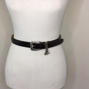 Brighton Crocodile Brown Belt